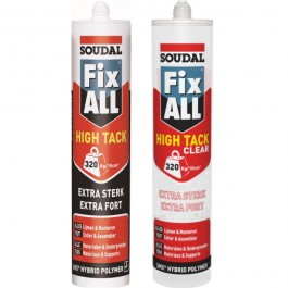 Mastic-colle Fix ALL - High Tack et High Tack Clear