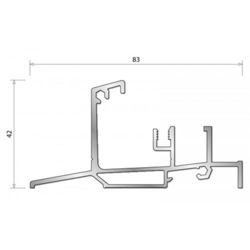 bilcocq seuil isol 47 t bois seuils pour menuiserie ferrures seuils et joints. Black Bedroom Furniture Sets. Home Design Ideas