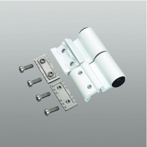 Paumelle mechanica r glable 2 lames en aluminium for Reglage porte fenetre pvc