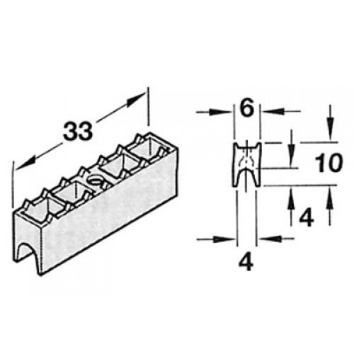 patin glisseur pour rail coulissants glissi res ferrures de meubles et agencement. Black Bedroom Furniture Sets. Home Design Ideas