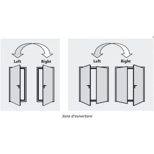 Portes rever multi usage bloc porte coupe feu m tallique for Bloc porte coupe feu 1h