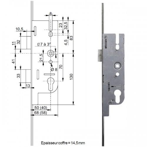 2pcs portes doubles portes composites verrous portes virtuelles Serrure /à p/êne coulissant dissimul/ée 6 pouces pour portes fran/çaises portes en bois