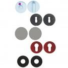 Rosaces et sous-rosaces rondes pour ensemble inox