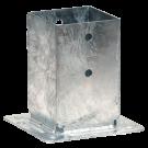 PPJBT -  Pied de poteau  carré sur platine