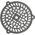 Grille d'aération ronde à pattes en fonte