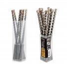 Pack de 6 ou 12 Forets Marteaux 3 Taillants Compatibles SDS-Plus