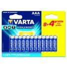 12 Piles alcalines AAA Varta High Energy (dont 4 gratuites)