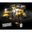 Kit 2 Outils XR 18V  4Ah Lion Brushless