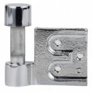 Fiche à entailler pour porte en verre huisserie métallique - 3205