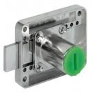 Serrure Réversible à Plaquer Symo Cylindre - à Pêne Dormant - Axe Réglable 15 à 40 mm