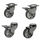Roulettes Designs Aluminium Noir - BLACKNICKEL